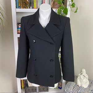 Barney's New York Textured Double Breasted Blazer